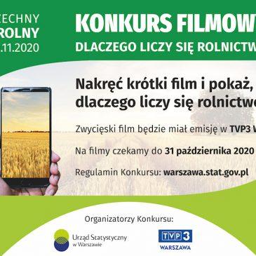 Informacja o konkursie filmowym dla rodziców i uczniów.