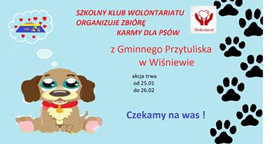 Akcja Szkolnego Klubu Wolontariatu – karma dla psów